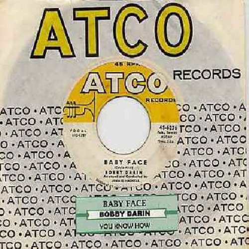 Darin, Bobby - Baby Face/You Know How (with Atco company sleeve and juke box label) - EX8/ - 45 rpm Records