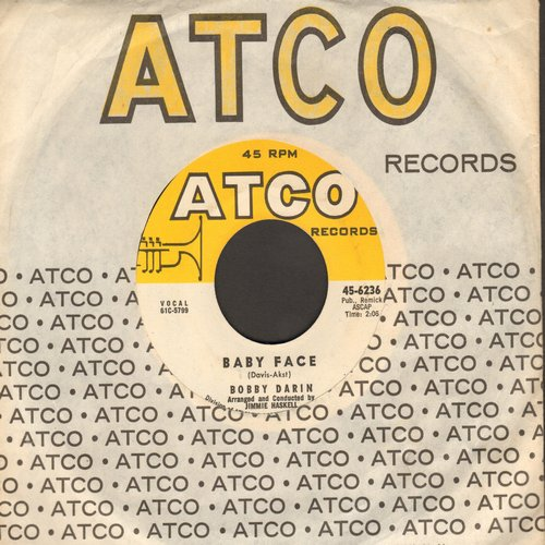 Darin, Bobby - Baby Face/You Know How (with Atco company sleeve) - VG7/ - 45 rpm Records