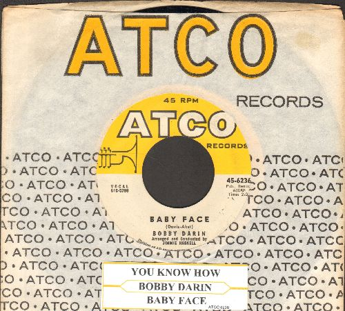Darin, Bobby - Baby Face/You Know How (NICE condition with Atco company sleeve and juke box label) - NM9/ - 45 rpm Records