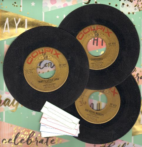 Darren, James - 3 Pack of first issue 45s includes hits Her Royal Majesty, Conscience and Mary Had A Little Lamb. Shipped in plain white paper sleeves with 4 blank juke box labels. - VG6/ - 45 rpm Records