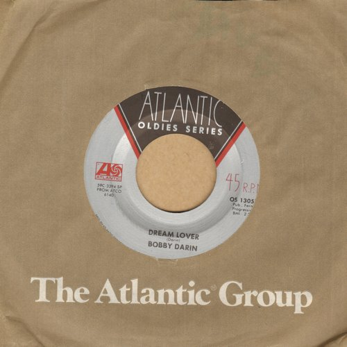Darin, Bobby - Dream Lover/If I Were A Carpenter (with re-issue with Atlantic company sleeve) - NM9/ - 45 rpm Records