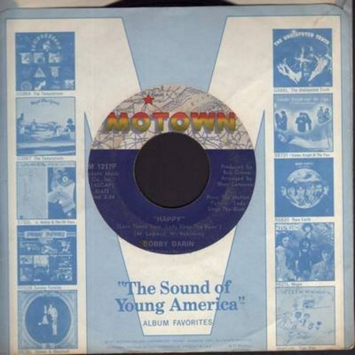 Darin, Bobby - Happy/Something In Her Love (with Motown company sleeve) - NM9/ - 45 rpm Records
