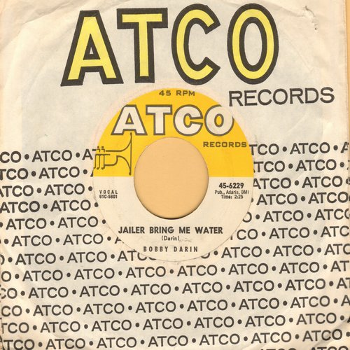Darin, Bobby - Jailer Bring Me Water/Things  (with Atco company sleeve) - NM9/ - 45 rpm Records