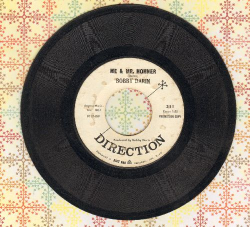 Darin, Bobby - Me & Mrs. Hohner/Song For A Dollar (DJ advance pressing) - VG7/ - 45 rpm Records