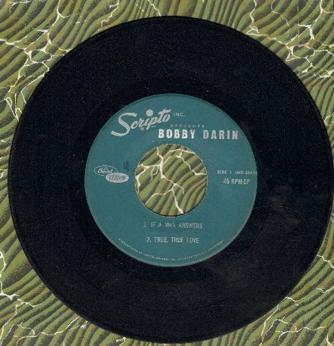 Darin, Bobby - If A Man Answers The Phone + 3 (Scripto Special WITHOUT picture sleeve) - VG7/ - 45 rpm Records