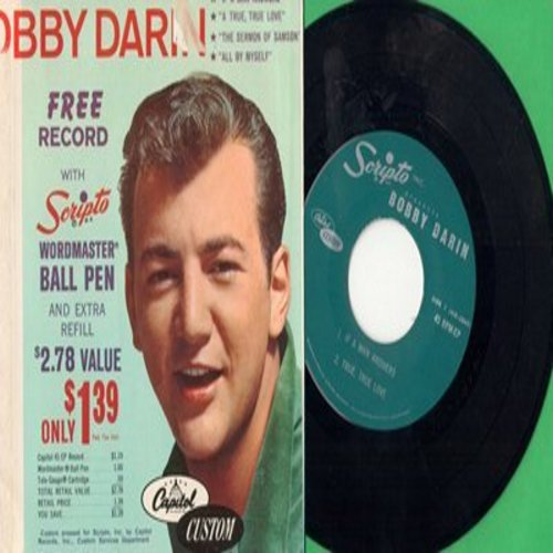 Darin, Bobby - If A Man Answers The Phone + 3 (Scripto Special with picture sleeve, Scripto pen is NOT included) - M10/VG7 - 45 rpm Records