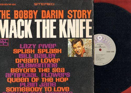 Darin, Bobby - Bobby Darin Story: Splish Splash, Dream Lover, Beyond The Sea, Plain Jane, Bill Baley, Clementine  (Vinyl STEREO LP record, 1980s pressing) - NM9/EX8 - LP Records