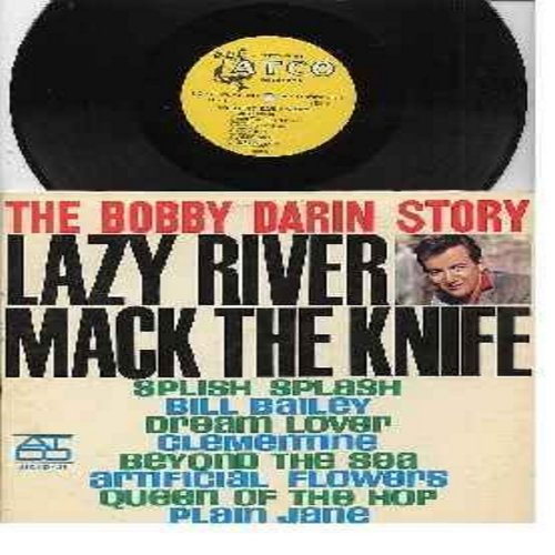 Darin, Bobby - Bobby Darin Story: Splish Splash, Dream Lover, Beyond The Sea, Plain Jane, Bill Baley, Clementine  (vinyl MONO LP record, RARE harp logo) - EX8/EX8 - LP Records