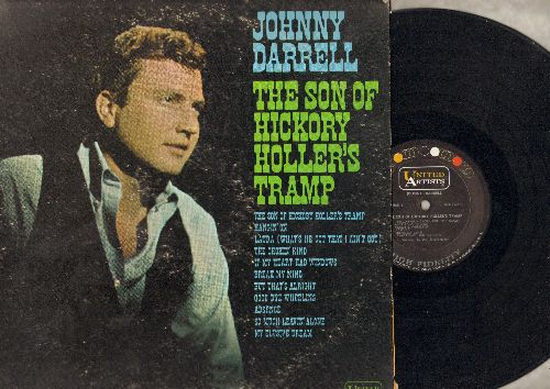 Darrell, Johnny - The Son Of Hickory Hollers Tramp: My Elusive Dream, Laura, Good Bye Wheeling (Vinyl MONO LP record) - VG7/VG6 - 45 rpm Records