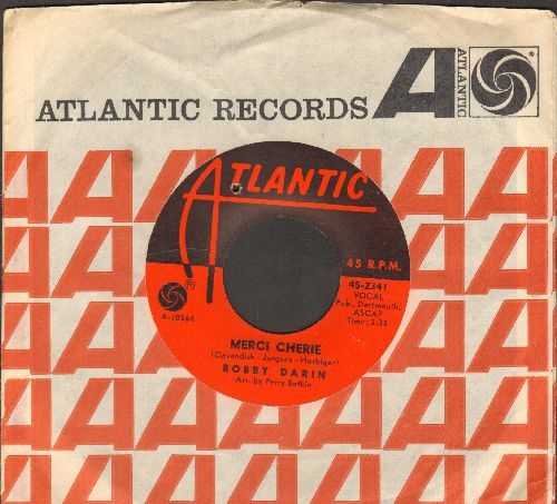 Darin, Bobby - Merci Cherie (NICE cover, WINNER Grand Prix Eurovision 1966 for singer/songwriter Udo Jurgens!)/Who's Afraid Of Virginia Wolf? (with Atlantic company sleeve) (bb) - NM9/ - 45 rpm Records