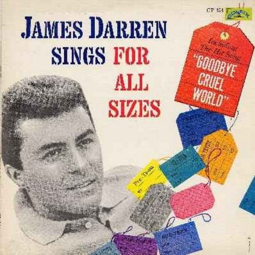 Darren, James - Sings For All Sizes: Angel Face, Teenage Tears, Goodbye Cruel World, Tears In My Eyes, Dream Big, Valerie (Vinyl LP record) - EX8/VG7 - LP Records