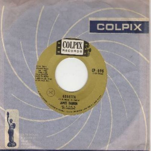 Darren, James - Gegetta/Grande Luna Italiana (with vintage Colpix company sleeve) - NM9/ - 45 rpm Records