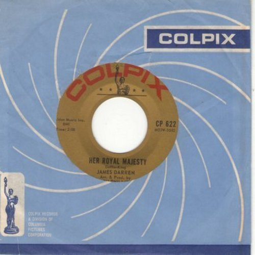 Darren, James - Her Royal Majesty/If I Could Only Tell You (with Colpix company sleeve) - M10/ - 45 rpm Records