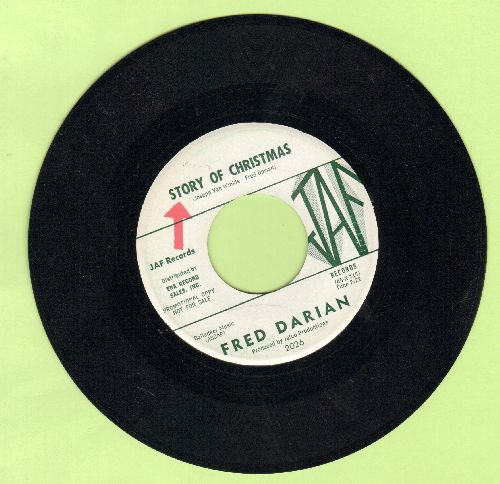 Darian, Fred - Story Of Christmas/Bells Of Laredo (DJ advance pressing) - NM9/ - 45 rpm Records