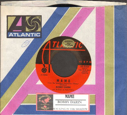 Darin, Bobby - Mame/Walking In The Shadow Of Love (with juke box label and Atlantic company sleeve) - NM9/ - 45 rpm Records