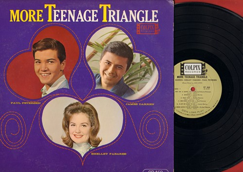 Fabares, Shelley, James Darren, Paul Petersen - More Teenage Triangle: Put On A Happy Face, Billy Boy, One Girl, He Don't Love Me, Kids (Folks), Gegetta (Vinyl MONO LP record) - EX8/EX8 - LP Records