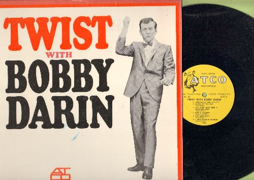 Darin, Bobby - Twist With Bobby Darin: Queen Of The Hop, Irresistible You, I Ain't Sharin' Sharon, You Must Have Been A Beautiful Baby, Multiplication (Vinyl MONO LP record, yellow harp label early issue, NICE condition! - NM9/NM9 - LP Records