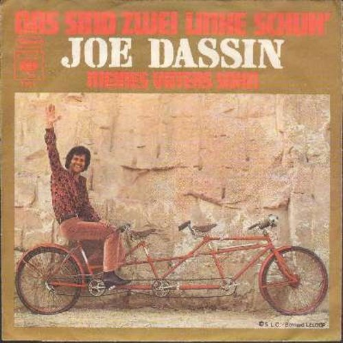 Dassin, Joe - Das sind zwei linke Schuh'/Meines Vaters Sohn (German Pressing with picture sleeve) - NM9/EX8 - 45 rpm Records