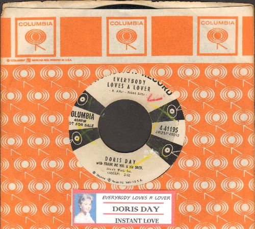 Day, Doris - Everybody Loves A Lover/Instant Love (DJ advance pressing with Columbia company sleeve and juke box label) - VG7/ - 45 rpm Records