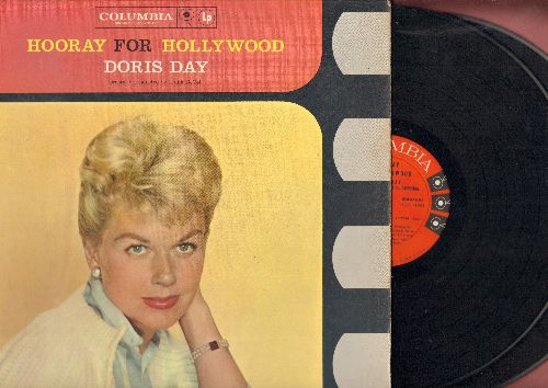 Day, Doris - Hooray For Hollywood: Cheek To Cheek, Over The Rainbow, You'll Never Know, Pennies From Heaven (2 vinyl MONO LP record set, gate-fold cover, Book-Of-The-Month-Club Pressing) - NM9/NM9 - LP Records