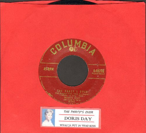Day, Doris - The Party's Over/What'ja Put In The Kiss (with juke box label) - EX8/ - 45 rpm Records