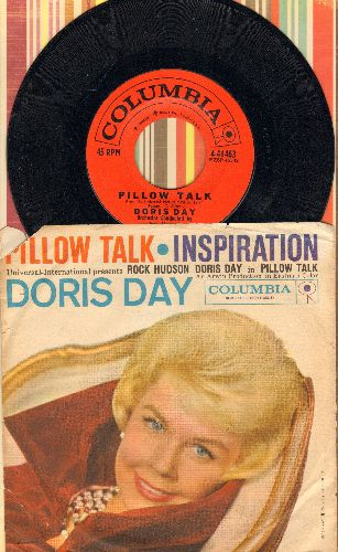 Day, Doris - Pillow Talk/Inspiration (with RARE picture sleeve) - NM9/VG7 - 45 rpm Records