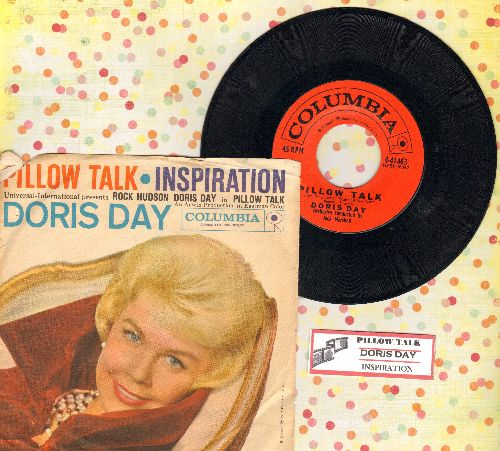 Day, Doris - Pillow Talk/Inspiration (with RARE picture sleeve) - NM9/VG6 - 45 rpm Records