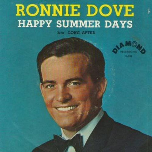 Dove, Ronnie - Happy Summer Days/Long After (with picture sleeve) - NM9/VG7 - 45 rpm Records