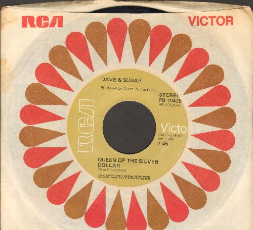 Dave & Sugar - Queen Of The Silver Dollar/Fools (with RCA company sleeve) - EX8/ - 45 rpm Records