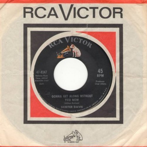 Davis, Skeeter - Gonna Get Along Without You Now/Now You're Gone (with RCA company sleeve) - EX8/ - 45 rpm Records