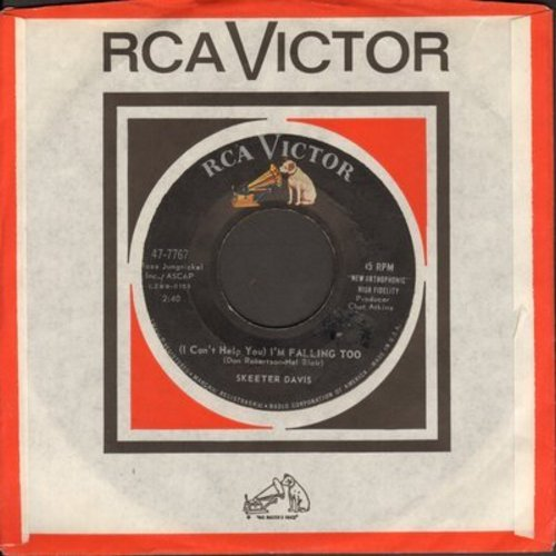 Davis, Skeeter - (I Can't Help You I'm Falling Too)/No Never (with RCA company sleeve) - VG7/ - 45 rpm Records