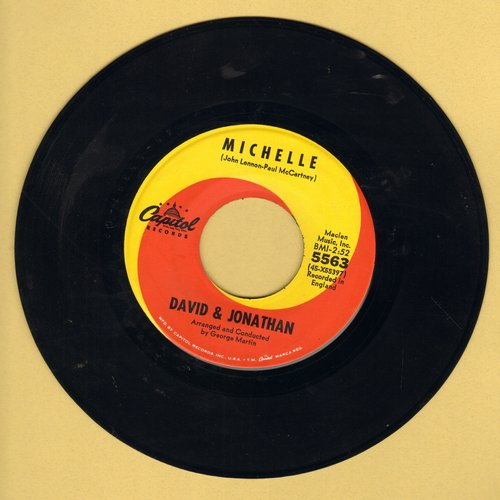 David & Jonathan - Michelle/How Bitter The Taste Of Love - EX8/ - 45 rpm Records