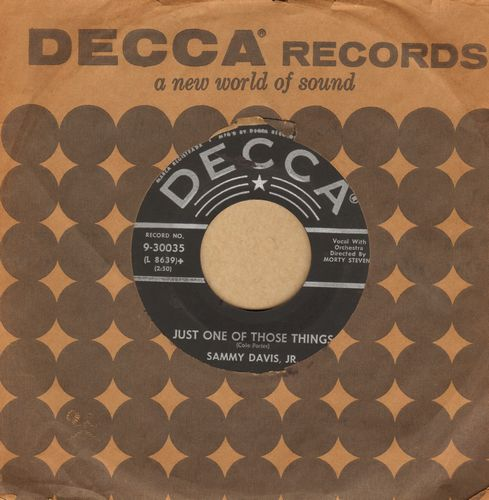Davis, Sammy Jr. - Just One Of Those Things/Earthbound (with Decca company sleeve) - NM9/ - 45 rpm Records
