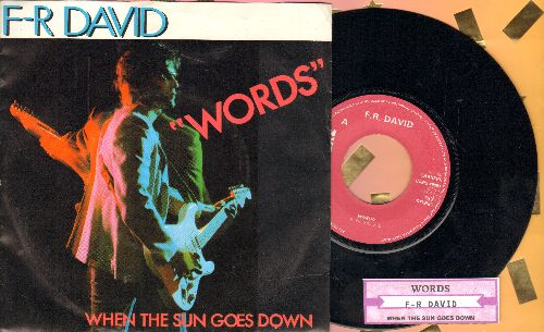 David, F. R. - Words/When The Sun Goes Down (EU Pressing with juke box label and picture sleeve) - NM9/NM9 - 45 rpm Records