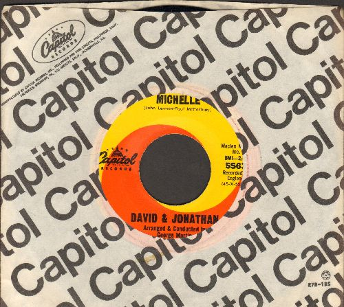 David & Jonathan - Michelle/How Bitter The Taste Of Love (with vintage Capitol company sleeve) - NM9/ - 45 rpm Records