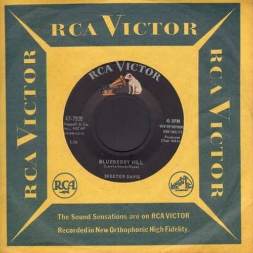 Davis, Skeeter - Blueberry Hill/Optimism (with vintage RCA company sleeve) - EX8/ - 45 rpm Records
