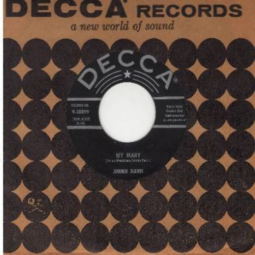Davis, Jimmie - My Mary/Lost Love (with vintage Decca company sleeve) - EX8/ - 45 rpm Records