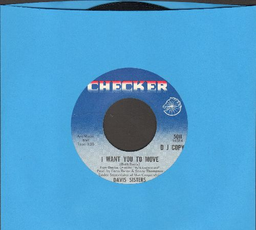 Davis Sisters - I Want You To Move/He'll Understand (DJ advance pressing) - NM9/ - 45 rpm Records