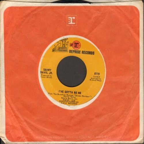 Davis, Sammy Jr. - I've Gotta Be Me/Bein' Natural Bein' Me (with Reprise company sleeve) - NM9/ - 45 rpm Records