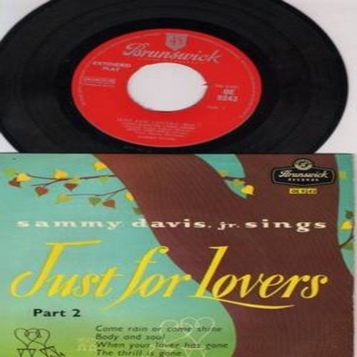 Davis, Sammy Jr. - Just For Lovers: Come Ran Or Come Shine/Body And Soul/When Your Love Has Gone/The Thrill Is Gone (Vinyl EP record, British Presing with picture sleeve) - VG7/EX8 - 45 rpm Records
