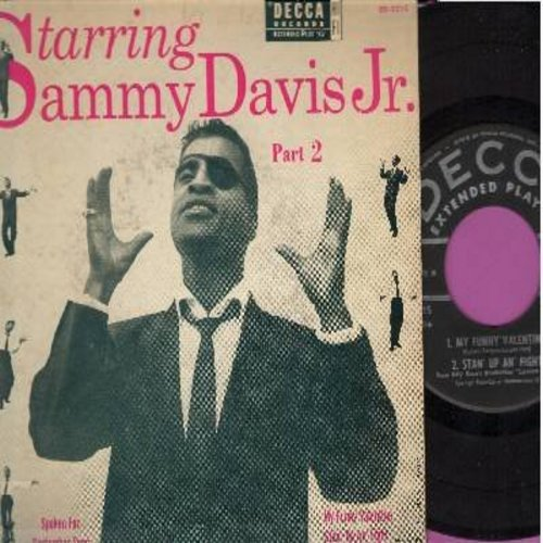 Davis, Sammy Jr. - Starring Sammy Davis Jr. Part 2: September Song/My Funny Valentine/Spoken For/Stan' Up An' Fight (Vinyl EP record with picture cover) - VG6/VG7 - 45 rpm Records