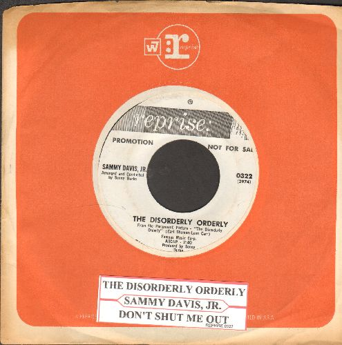 Davis, Sammy Jr. - The Disorderly Orderly/Don't Shut Me Out (DJ advance pressing with juke box label and Reprise company sleeve) - EX8/ - 45 rpm Records