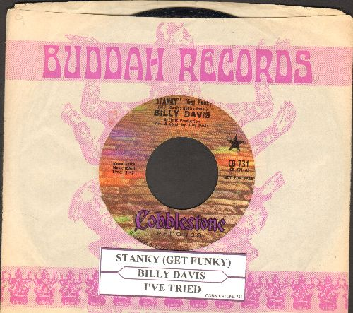 Davis, Billy - Stanky (Get Funky)/I've Tried (EXTREMELY RARE vintage Funk 2-sider with company sleeve and juke box label) - VG7/ - 45 rpm Records