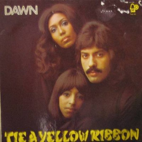 Dawn - Tie A Yellow Ribbon: Runaway/Happy Together, Freedom For The Stallion, You're A Lady (Vinyl STEREO LP record, German Pressing) - M10/EX8 - LP Records