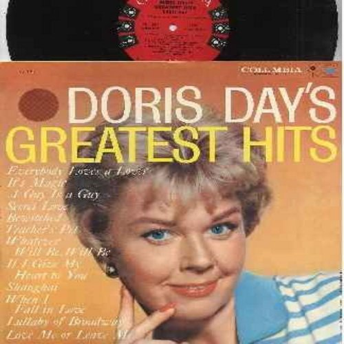 Day, Doris - Greatest Hits: Teacher's Pet, It's Magic, Bewitched, Que Sera Sera (Whatever Will Be Will Be), Everybody Loves A Lover, When I Fall In Love, Love Me Or Leave Me (Vinyl MONO LP record, red label, 6 white eyes first issue, NICE condition!) - EX