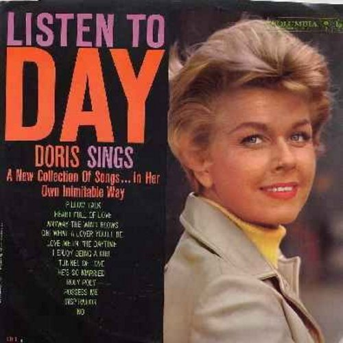 Day, Doris - Listen To Day: Pillow Talk, I Enjoy Being A Girl, Tunnel Of Love, Roly Poly, Possess Me, Inspiration (vinyl  LP record, NICE condition!) - VG7/EX8 - LP Records