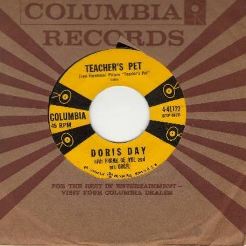 Day, Doris - Teacher's Pet/A Very Precious Love (with vintage Columbia company sleeve) - EX8/ - 45 rpm Records
