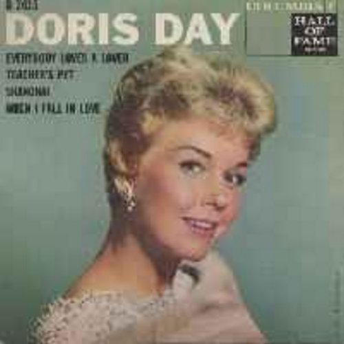 Day, Doris - Teacher's Pet/When I Fall In Love/Everybody Loves A Lover/Shanghai (Vinyl EP record with picture cover) (second pressing) - EX8/EX8 - 45 rpm Records