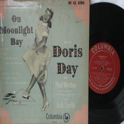 Day, Doris - On Moonlight Bay/Christmas Story/Cuddle Up A Little Closer/Tell Me/I'm Forever Blowing Bubbles (10 inch vinyl Mini-LP with picture cover) - EX8/VG6 - LP Records