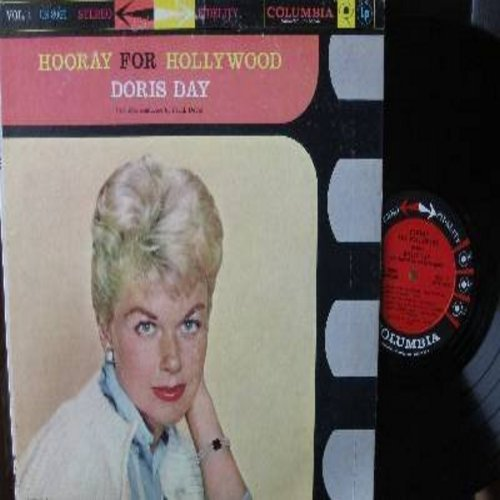 Day, Doris - Hooray For Hollywood - Vol. 1: Cheek To Cheek, Over The Rainbow, Night And Day, Love Is Here To Stay, Three Coins In The Fountain (vinyl STEREO LP record) - EX8/VG7 - LP Records